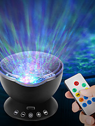 cheap -AKDSteel Ocean Wave Music Projector Night Light Remote Control Lamp with Built-in Mini Music Player 12 LED Beads & 7 Colorful Lights for Kids Adults Bedroom Living Room