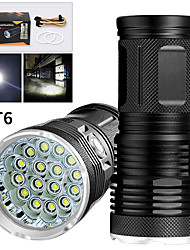 cheap -EX16 Flashlight Body Waterproof 12800 lm LED LED 16 Emitters Manual 3 Mode Waterproof Professional Anti-Shock Easy Carrying Durable Camping / Hiking / Caving Police / Military Cycling / Bike White
