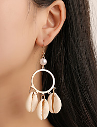 cheap -Women's Drop Earrings Dangle Earrings Hollow Out Tropical Shell Statement Dangling Shell Earrings Jewelry Gold For Gift Carnival Holiday 1 Pair