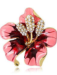 cheap -Women's Resin Brooches Classic Flower Luxury Vintage Cartoon Brooch Jewelry Fuchsia Red Gold / Pink For Wedding Party Gift