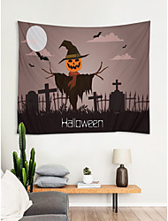 cheap -Classic Halloween Wall Decor 100% Polyester Modern Wall Art, Wall Tapestries Decoration