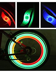 cheap -LED Bike Light Safety Light Wheel Lights Bike Spoke Lights Mountain Bike MTB Bicycle Cycling Waterproof Multiple Modes Alarm Backlight CR2032 Battery Cycling / Bike Motocycle / IPX-4