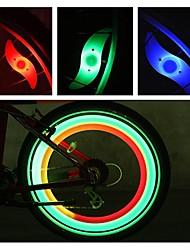 Недорогие -Светодиодная лампа Велосипедные фары огни безопасности колесные огни Велосипедные фонари Горные велосипеды Велоспорт Велоспорт Водонепроницаемый Несколько режимов Будильник подсветка / IPX-4