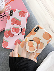 cheap -Case For Apple iPhone XS / iPhone XR / iPhone XS Max Dustproof / with Stand / IMD Back Cover Tile / Food Soft TPU