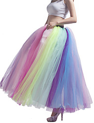 cheap -Party Evening / Wedding Party Slips Tulle / Polyester Floor-length Ball Gown Slip / Long with Pleats