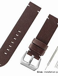 cheap -Genuine Leather / Calf Hair Watch Band Strap for Black / Red / Brown Other 2.2cm / 0.9 Inches / 2.4cm / 0.94 Inches