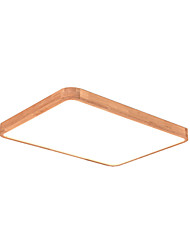 cheap -1-Light Wooden Ceiling Lamp Rectangle Shape Flush Mount Led Light For Bedroom Kid's Room Nordic Simple Design Close To Ceiling Fixtures