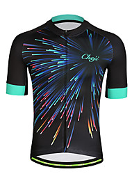 cheap -Men's Short Sleeve Cycling Jersey Black Sky Blue+White Green 3D Bike Jersey Top Mountain Bike MTB Breathable Moisture Wicking Quick Dry Sports Polyester Clothing Apparel