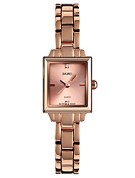 cheap -SKMEI Women's Quartz Watches Fashion Minimalist Silver Rose Gold Alloy Chinese Quartz Rose Gold Silver Water Resistant / Waterproof Cute New Design 30 m 1 pc Analog One Year Battery Life