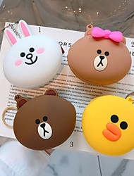 cheap -Hand-held Coin Purse Portable Headphone Bag Storage Bag Cute Cartoon Silicone Lanyard