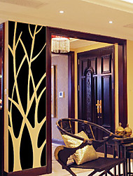 cheap -Simple Mirror-Surface Stickers Removable Decal Tree Art Mural Wall Stickers for Home Room Decor