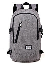 cheap -Large Capacity Oxford Zipper School Bag Solid Color Daily Blue / Black / Gray / Fall & Winter