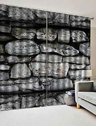 abordables -3d impression pierre naturelles vue fenêtre rideaux haute qualité épaississement occultation fond tissu pour étude / chambre / salon