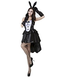 cheap -Bunny Girl Dress Cosplay Costume Masquerade Adults' Women's Cosplay Halloween Christmas Halloween Carnival Festival / Holiday Polyster Black Women's Carnival Costumes Holiday Rabbit / Bunny Halloween