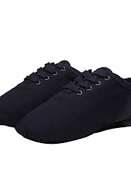 cheap -Women's Jazz Shoes Heel Flat Heel Canvas Black / Performance / Practice