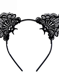 cheap -Sexy Lovely Women Fashion Lace Cat Ears Headband Hair Accessories Black Halloween Costume Party Cosplay Creative Gift