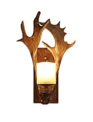 cheap -Rustic Wall Sconces Retro Industrial Resin/ Glass Wall Lamp Wall Sconce Lighting