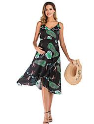 cheap -Women's Knee-length Maternity White Black Dress Sheath S M