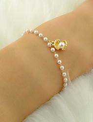 cheap -Women's Bead Bracelet Link / Chain Shell Luxury Fashion Imitation Pearl Bracelet Jewelry White For Daily Work Festival