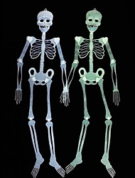 cheap -Halloween Haunted House Decoration Luminous skeleton Terrorist Gift 90cm