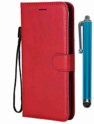 cheap -Case For Samsung Galaxy S9 / S9 Plus / S8 Plus Wallet / Card Holder / with Stand Full Body Cases Solid Colored PU Leather / TPU