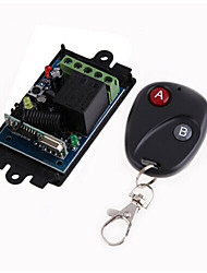 cheap -DC12V 1CH RF Wireless Remote Control Switch/Learning code 10A Relay Receiver/Led Power ON/OFF switch 433mhz