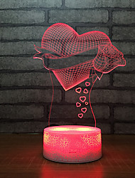 cheap -Valentine's Day Gifts Electronic Gadgets Led Usb Bedside Night Light 3d 3d Children Light Bulb