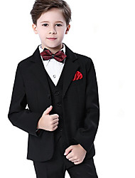 cheap -Kids Boys' Basic Solid Colored Long Sleeve Regular Cotton Suit & Blazer Black