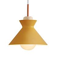 Недорогие -столовая подвесные светильники одиночные подвесные светильники мода macaron красочные подвесные светильники чаша подвесной светильник потолочные светильники окрашенные отделки металл
