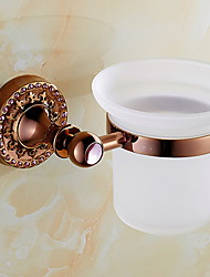 cheap -Toilet Brush Holder Creative / Multifunction Modern Brass 1pc Wall Mounted