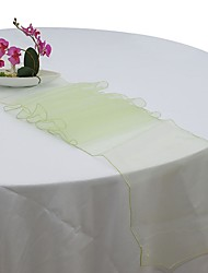 cheap -LingStar Premium Quality 30x275cm Sheer Organza Table Runner Wedding Party Home Decoration