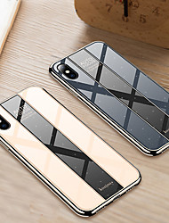 cheap -Phone Case for iphone XS Max XR XS X Shockproof Plating PC Mirror Hard Back Cover for iphone 8 Plus 8 7 Plus 7 6 Plus 6 TPU Edge Case