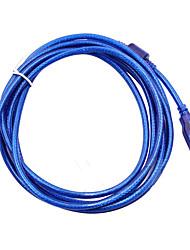 Недорогие -USB 2.0 кабель принтера типа мужчина к типу B мужской двойной экранирование