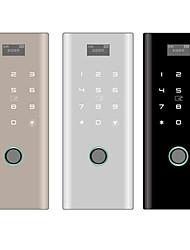 Недорогие -стеклянная дверь отпечатков пальцев замок офис приложение bluetooth смарт-пароль безрамочный замок с двойной дверью