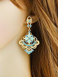 cheap -Women's Drop Earrings Chandelier Flower Stylish Romantic Elegant Earrings Jewelry Light Blue For Party Daily Work 1 Pair