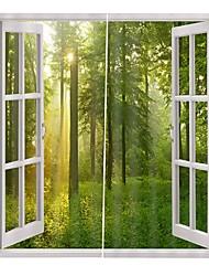 Недорогие -Европейский стиль высокой четкости художественные шторы сложные затенения влагостойкие занавески для душа утолщенные чистый полиэстер офис фон шторы