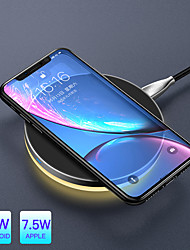 cheap -10 W Qi Wireless Light Charger For iPhone X Xr Xs Max 8 Fast Charging Wireless Pad For Samsung S9 S8  Huawei Companion 20 Pro