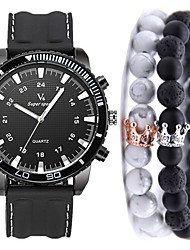 cheap -Men's Sport Watch Quartz Silicone Black No Chronograph Cute New Design Analog New Arrival Fashion - Black Black / White One Year Battery Life