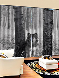 cheap -3D Print Privacy Two Panels Custom Polyester Curtain For Boys Room / Living Room Decorative Dust-proof Waterproof High-quality  Curtains
