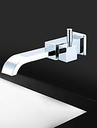 cheap -Bathroom Sink Faucet - Waterfall Chrome Wall Mounted Single Handle One HoleBath Taps