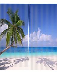 Недорогие -европейский уф-печать пейзаж цвет точный влагостойкий занавес гостиная затенение полиэфирная ткань занавес