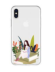 Недорогие -чехол для iphone x xs max xr xs чехол назад мягкий чехол tpu art girl tpu для iphone5 5s se 6 6p 6s sp 7 7p 8 8p16 * 8 * 1