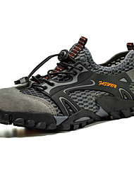 cheap -Men's Comfort Shoes Mesh / PU Summer Sporty Athletic Shoes Hiking Shoes Non-slipping Black / Brown / Green