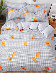 cheap -Cartoon Bedding Sets 3/4pcs Geometric Pattern Bed Linings Duvet Cover Bed Sheet Pillowcases Cover Set