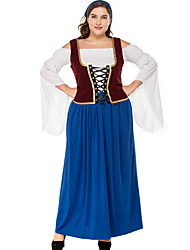 cheap -Bavarian Costume Women's International Halloween Performance Theme Party Costumes Women's Dance Costumes Polyester Lace-up