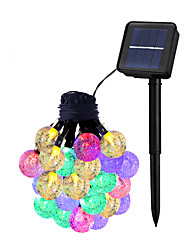 abordables -Dongguan ho10704b4o28 marque solaire 6 m 30led 8 mode bulle lumière perle chaîne extérieure imperméable lanterne de jardin de Noël 4 couleurs (rouge jaune bleu vert)