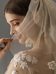 cheap -Three-tier Stylish Wedding Veil Shoulder Veils with Sparkling Glitter Tulle / Angel cut / Waterfall