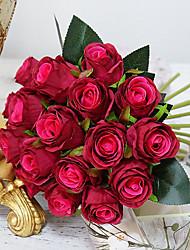 abordables -Dongguan pho_090f18pcs mariée bouquet de fleurs artificielles décoration de mariage décoration photographie accessoires lumière champagne