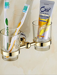 cheap -Toothbrush Holder Creative Modern Brass 1pc Wall Mounted
