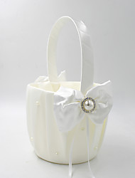 "cheap -Flower Basket Satin 8 3/5"" (22 cm) Satin Bow 1 pcs"